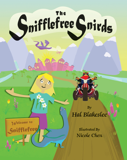 Children's Book Cover Design for The Snifflefree Snirds