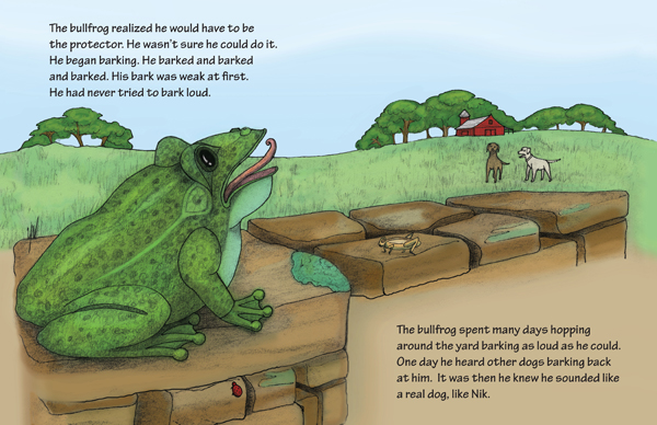 Illustrated Children's Book - The Watchfrog Story