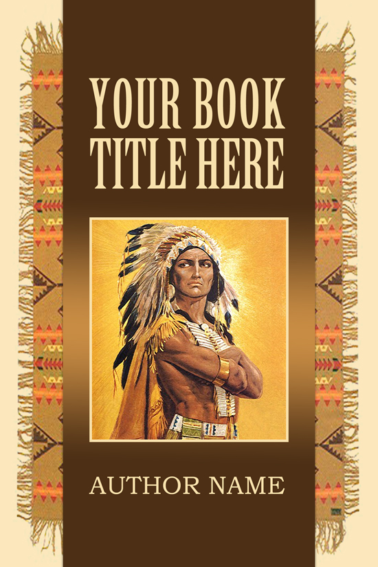 Western, American Indian, Historical Book Cover Design