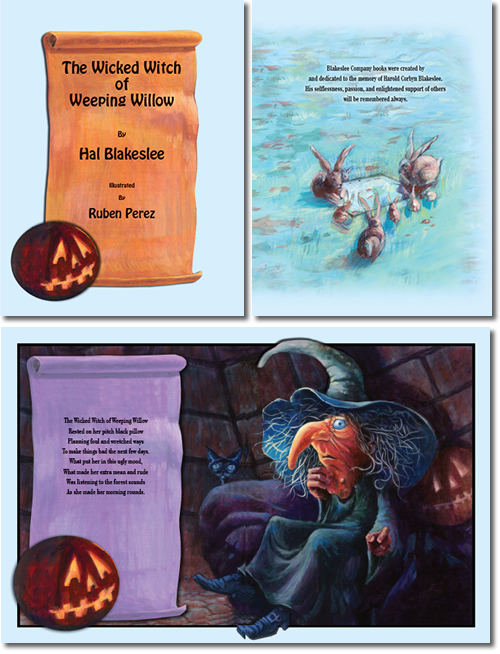 Illustrated Children's Book - The Wicked Witch of Weeping Willow