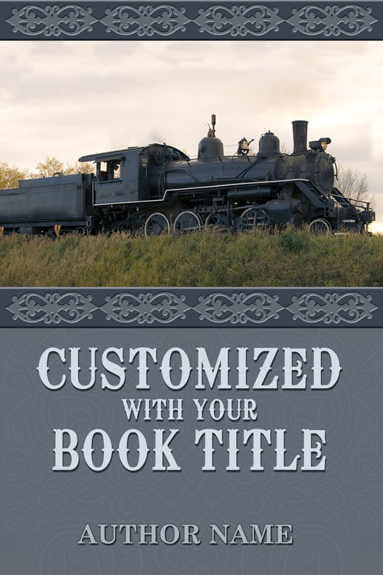 Western, Historical, Train Book Cover Design