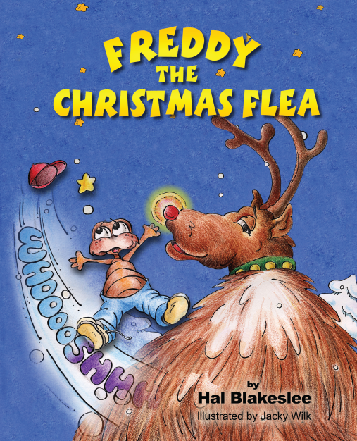 Cover design for Freddy The Christmas Flea by Hal Blakeslee