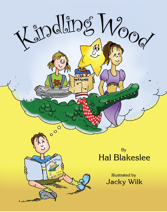 Cover design for the children's book Kindling Wood by Hal Blakeslee
