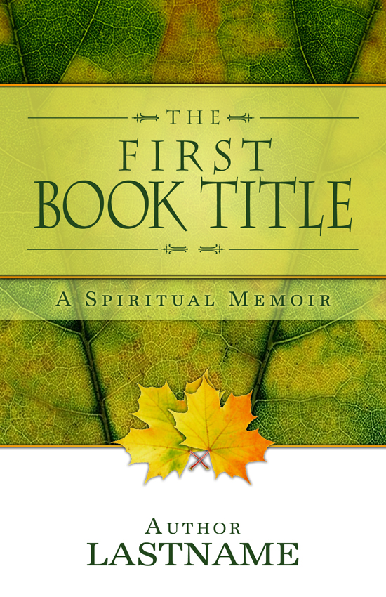 Memoir or Testimonial Book Cover Design