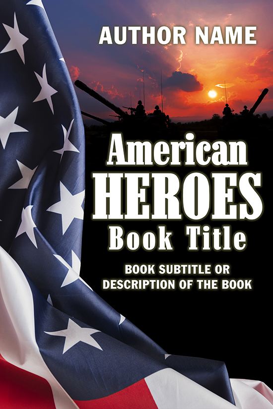Military, American Heroes, Memoir Book Cover Design