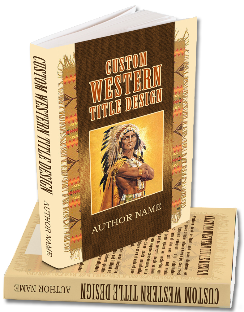 Premade cover for a Western or Historical  book.