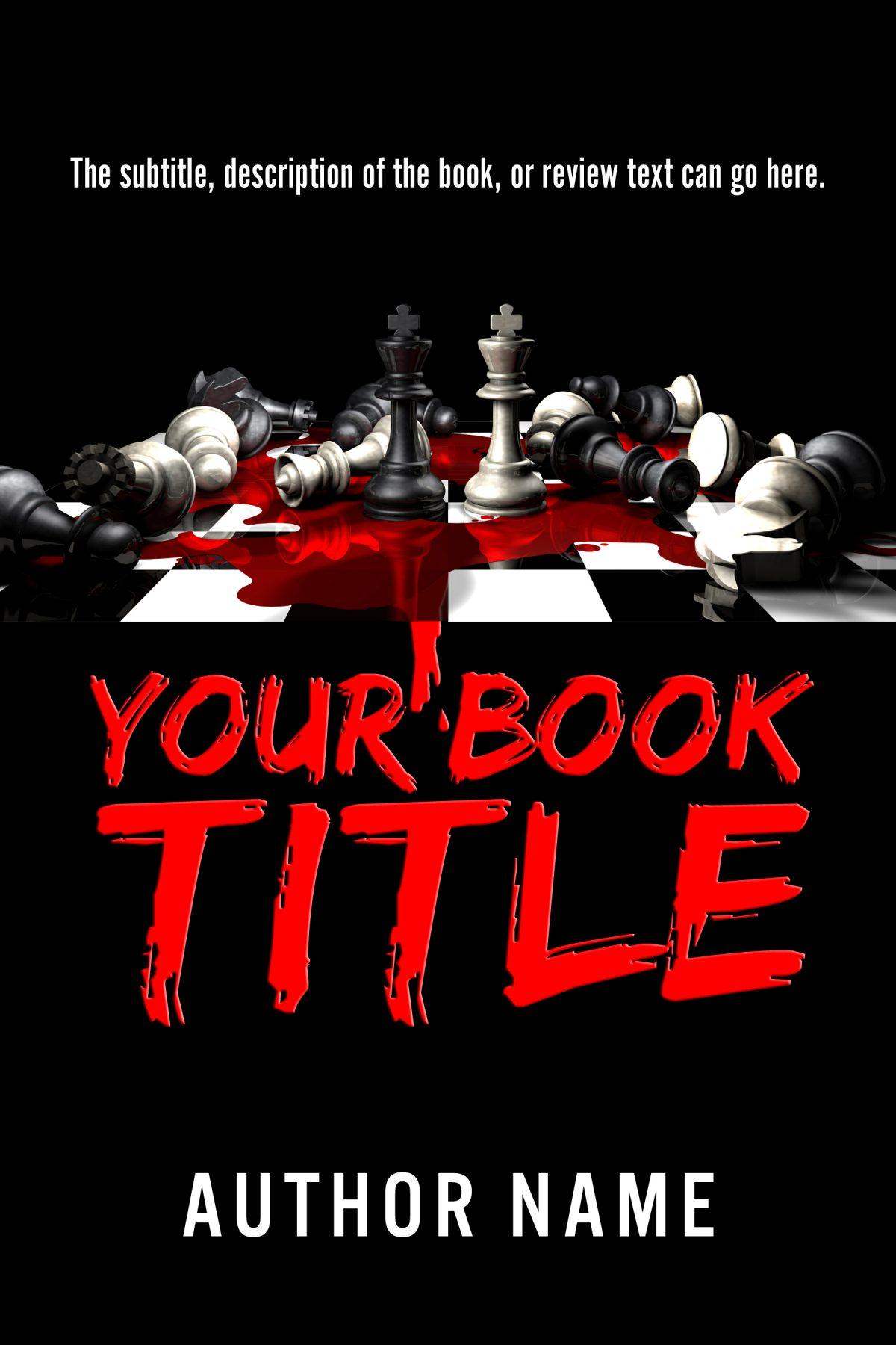 Horror or murder mystery book cover design