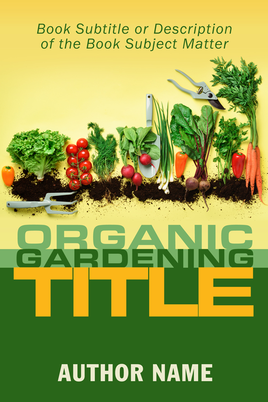 Organic Gardening Book Cover Design