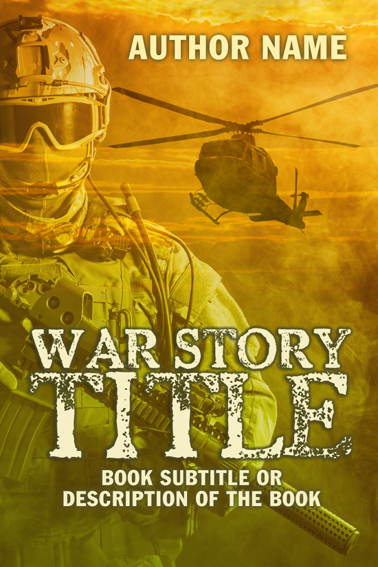 Military, Soldier Stories, War Memoir Book Cover Design