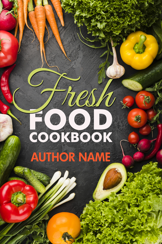 Fresh Food Cookbook Cover Design