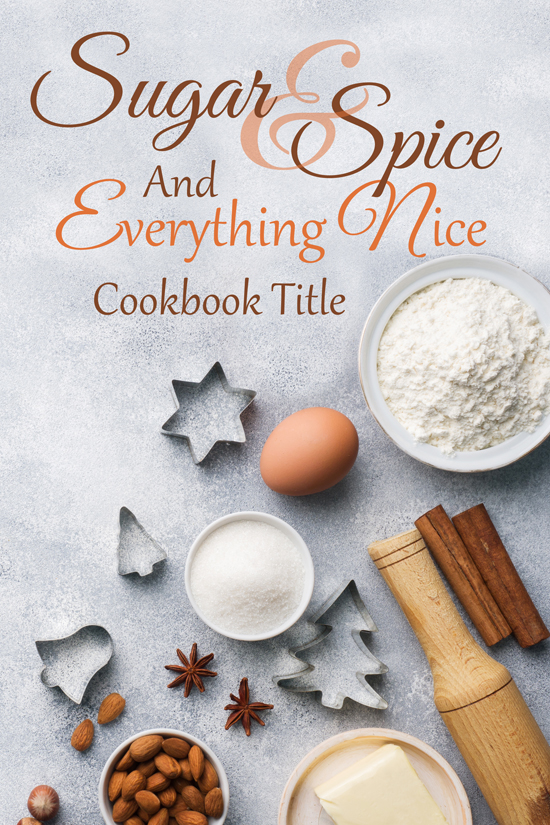 Cookie Cookbook Cover Design